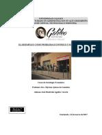 El Desempleo Como Problema Economico y Sociologico