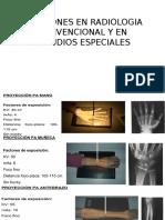 posiciónes en radiología