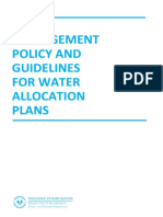 Risk Management Policy and Guidelines for Water Allocation Plans