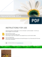 Edison Free Presentation Template