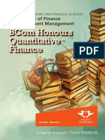BCom Hons Quantitative Finance Brochure
