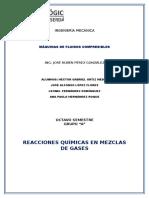 Reacciones Quimicas en Mezcla de Gases