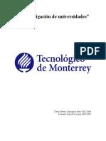 Investigacion de Universidades y Carreras David Dominguez Fernando Rea