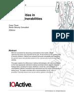 Commonalities in Vehicle Vulnerabilities WP