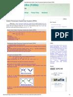 Sistem Persamaan Kuadrat Dan Kuadrat (SPKK)