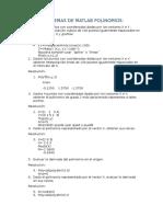 Problemas de Matlab Polinomios