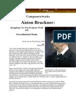 SYmphony 9 Bruckner