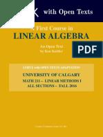 Kuttler LinearAlgebra AFirstCourse