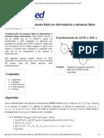 Transformación de Autómata Finito No Determinista a Autómata Finito Determinista - EcuRed