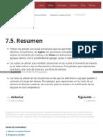 7.5. Resumen