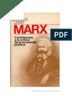 Contribucion a La Critica de La Economia Politica Marx