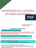 Inhibidores de La Sintesis de Pared