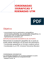 Coordenadas Geograficas y Coordenadas Utm
