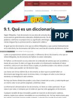 9.1. Qué Es Un Diccionario