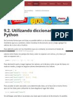 9.2. Utilizando Diccionarios en Python