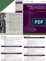 Programa Segundo Coloquio Internacional de Historia, Arquitectura, Escultura, Urbanismo y Costumbres Funerarias
