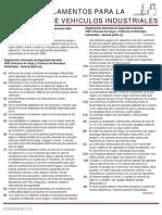 Reglamentos Para La Operación de Vehículos Industriales
