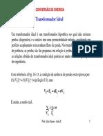 Conversão de Energia_Transforamadores_Exercícios_ Aula 3