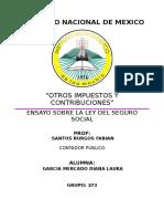 Ensayo Ley Del Seguro Social