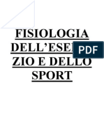 Fisiologia Dell' Esercizio e Dello Sport