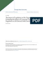The Impact of Legislation on the Organization- Evaluating the Imp