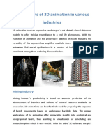 Applications of 3d Animation in Various Industries