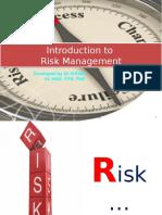 Introduction to Risk Management L 1