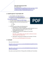 Set Up Visual Studio 2013 Professional, Glui, Freeglut, And Armadillo