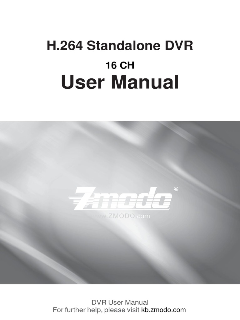 User Manual: H 264 Standalone DVR