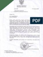 Surat Mentan_10 Feb 2009