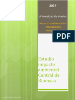 Estudio Impacto Ambiental Central de Biomasa