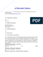 Maintenance of Microbial Cultures