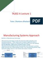 TA202 a Lecture 1