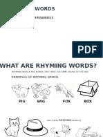 RHYMING WORDS Grade 2.pptx
