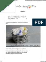 DIY.. Reversible Fabric Storage Bin _ Haberdashery Fun