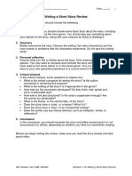 Handout 1.13- Writing a Short Story Review
