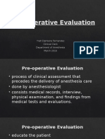 Preop Evaluation and Medications