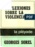 Sorel Georges Reflexiones Sobre La Violencia 1908