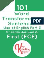 101 Word Transformation Sentences