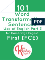 101 Word Transformation Sentences