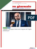 Urbino, Giuseppe Collesi sarà insignito del Sigillo di Ateneo - L'Altro Giornale, 4 aprile 2017