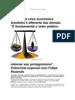 Crise Brasileira Atual - Felipe Resende
