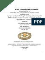 Performance Appraisal Report
