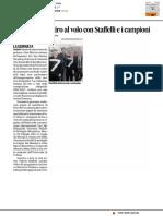 Gli studenti al Tiro a volo con Staffelli e i campioni - Il Corriere Adriatico del 4 aprile 2017