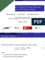 Alternating Direction Method for image restoration
