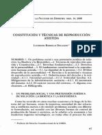 Constitucion y Tecnicas de Reproduccion Asistida