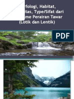 Morfologi, Habitat, Komunitas Dan Sifat Organisme Perairan Tawar