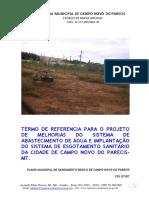 TERMO DE REFERENCIA PARA O PROJETO DE SISTEMA DE ABASTECIMENTO DE AGUA CAMPO NOVO PARECIS.pdf