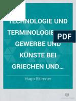 KUMAŞ BOYAMA Technoologie Und Terminologie Der Gewerbe Und Künste Bei Griechen Und Römern