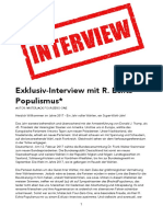 Exklusiv-Interview mit Herrn R. Echts-Populismus